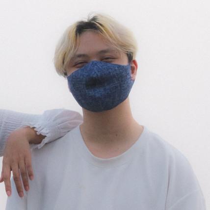 Pacific Blue Medium Wash Face Mask