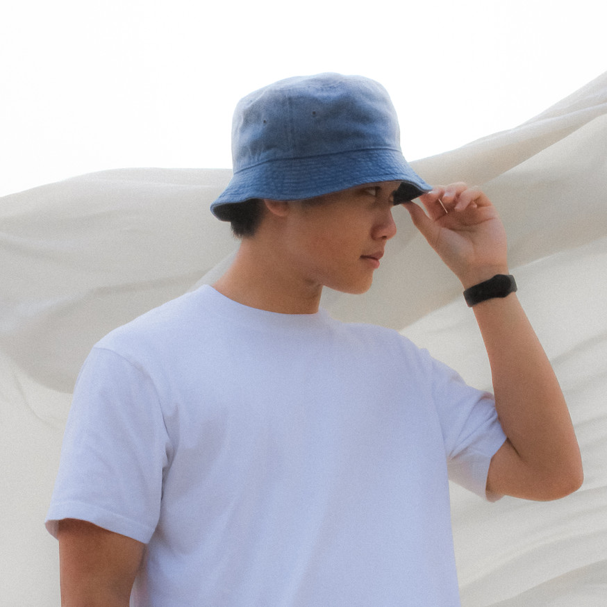 Arctic Blue Light Wash Bucket Hat