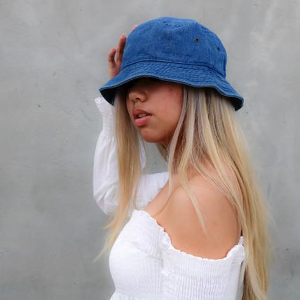 Pacific Blue Medium Wash Bucket Hat