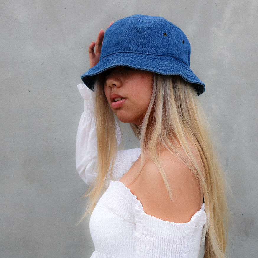 Pacific Blue Medium Wash Bucket Hat
