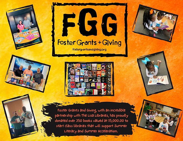 Foster Grants and Giving, with an incredible partnership with The Lisa Libraries, has prou