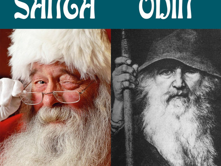 Is Santa really Odin? Where did Christmas come from? Happy Holidays.