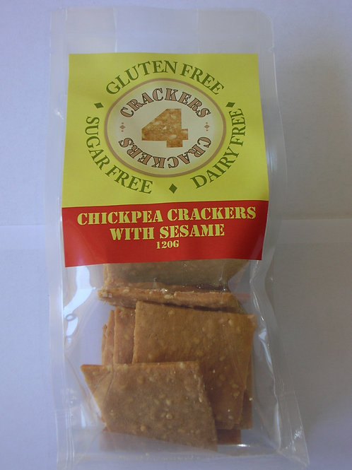 120g chickpea and sesame crackers