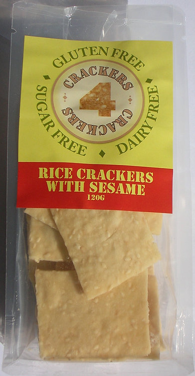 100g rice and sesame seed crackers