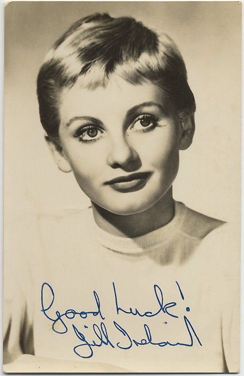 AUTOGRAPHED HOLLYWOOD STAR ACTOR JILL IRELAND!