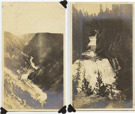 YELLOWSTONE CANYON & KEPLER CASCADES RIVER RUNS THROUGH WESTERN LANDSCAPE