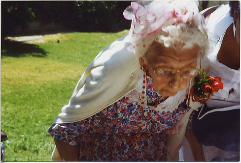 OLD WOMAN BENDS OVER for MYSTERY PURPOSE BLOWS OUT UNSEEN CANDLES?