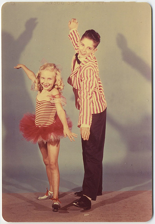 ADORABLE TAP DANCING FRED & GINGER WANNABE KIDS STRIPES SHADOW STUDIO PORTRAIT