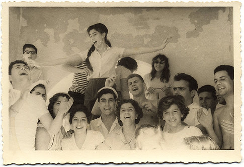 HAPPIEST HAPPY GROUP of KIBBUTZNIKS? SMILES REJOICES LAUGHS & DELIGHTS in YOUTH!