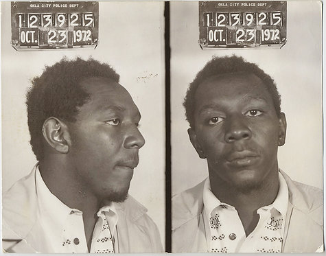SERIOUS BLACK AFRICAN-AMERICAN MAN ID'd in OKLAHOMA CITY MUGSHOT