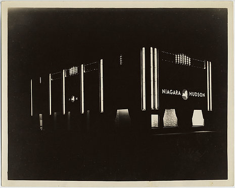 NIAGARA HUDSON POWER UTILITY ILLUMINATES SHOWCASE FLUORESCENT LIGHT PRESS PRINT