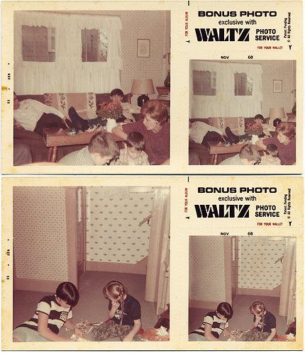 FAMILY LOUNGES AROUND MID CENTURY 60s INTERIOR 2 BONUS PICS