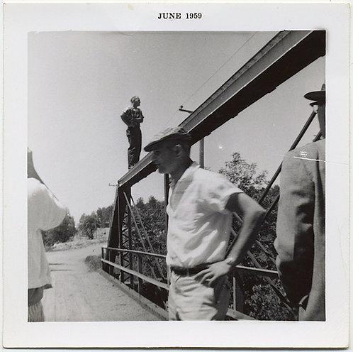AMAZING COMPLEX COMPOSITION MEN on BRIDGE June 1959