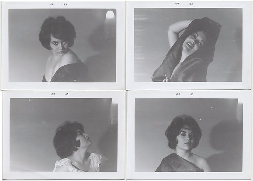 LOT 1: BUSTY ELIZABETH TAYLOR LOOKALIKE VAMPS PLAYS SEXY FEMME FATALE 4 Pics