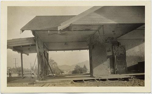 FABULOUS HALF DESTROYED DEMOLISHED BUILDING w VIEW THRU to LANDSCAPE BEYOND