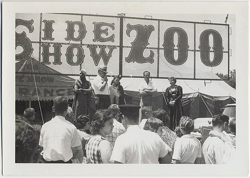 UNUSUAL CROWD GATHERS SIDE SHOW CIRCUS ZOO BEATTY-COLE BROS BIG TOP EXOTICA MC