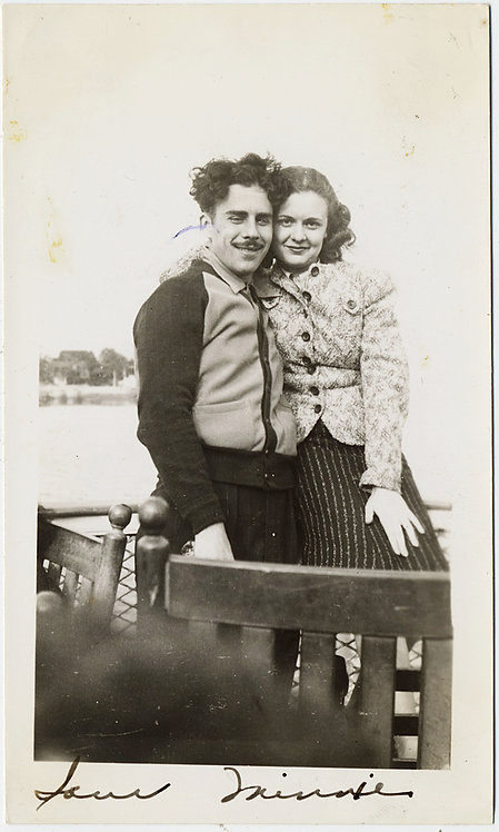 TOUSLE-HAIRED SEXY SAM (YOUNG CHAPLIN LOOKALIKE?) & MINNIE his LOVE MAIDEN