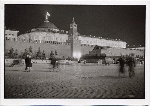 HORST SCHMECK MOODY ATMOSPHERIC RED SQUARE by NIGHT RUSSIA KREMLIN