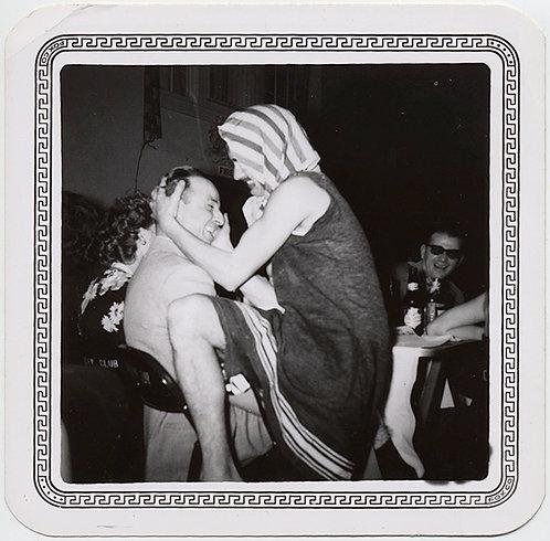 CRAZY STRANGE MAN in DRAG SWIMSUIT TOWEL over HEAD SEDUCES MAN GAY