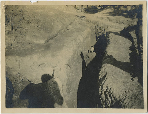 IN THE TRENCHES! Soldier poses in trench w SHADOWS