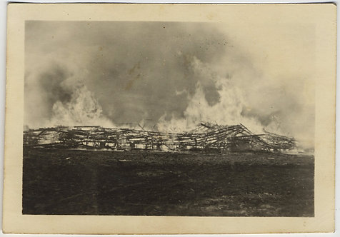B COMPANY BARRACKS BURNS DOWN in FIRE DISASTER CONFLAGRATION! CAPTION