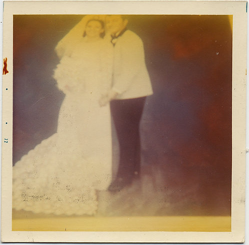 STUNNING PHOTO of WEDDING PHOTO w COLOR SHIFT ALMOST PAINTERLY