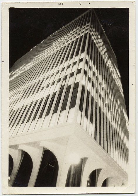 STUNNING ARCHITECTURE BUILDING ABSTRACT NIGHT SHOT ALMOST NEGATIVE