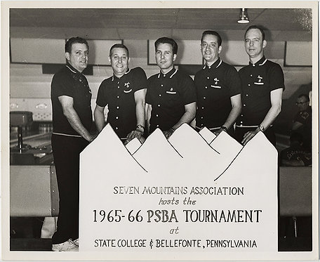 1965-1966 PSBA tournament State College/Bellefonte PA TOURNAMENT TEAM BOWLING