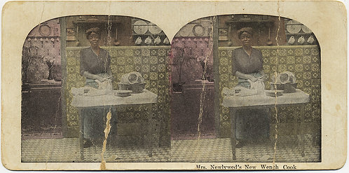 RACIST TROPE STEREOVIEW AFRICAN AMERICAN SERVANT