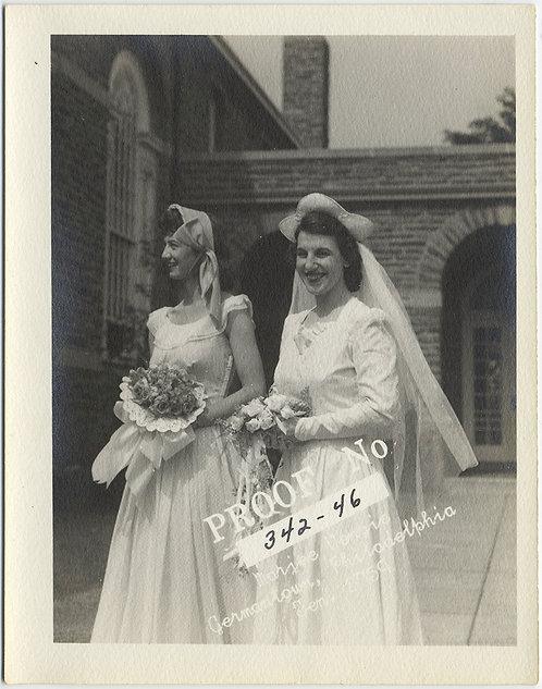 HAPPY BRIDE & BRIDESMAID in WEDDING PROOF PRINT