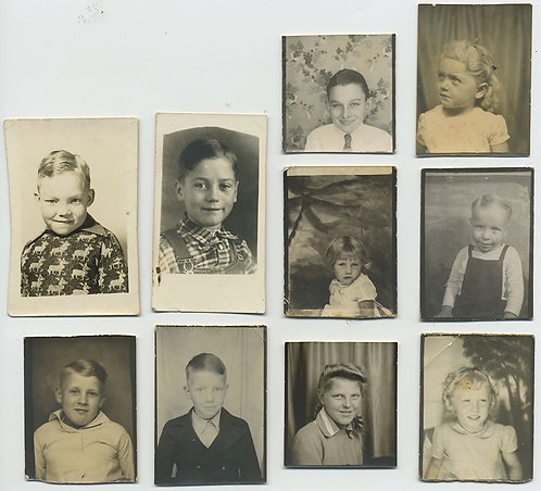 LOVELY MIXED PHOTOBOOTH LOT of CHILDREN BOYS GIRLS 10 images