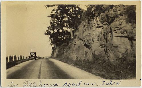 CAR PULLS OVER on OKLAHOMA ROAD near TULSA VANISHING POINT CAPTION!