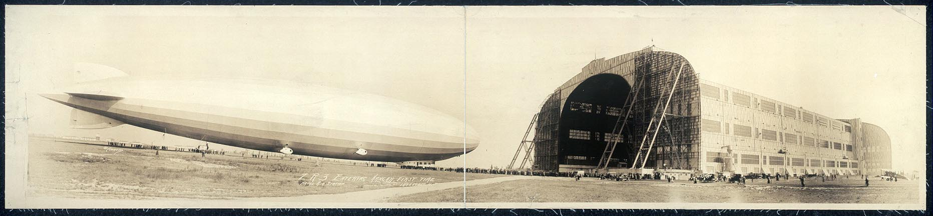 fp1603 (airship zr-3 entering hangar)
