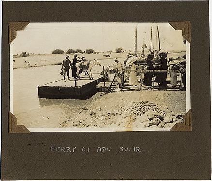 EGYPTIAN FERRY TRANSPORTS MEN & DONKEY ASS at ABU SUEIR EGYPT