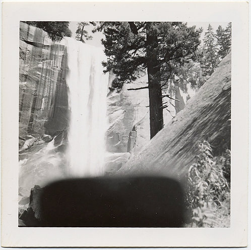 CAMERA CASE FLAP INTERFERES OBSCURES BLOCKS LOVELY LANDSCAPE IMAGE of WATERFALL