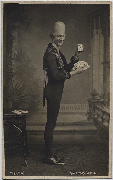 fp5940(RPPC_PenisHeadMan_Clown_DeckOfCards_CarltonGainsboroSeries)