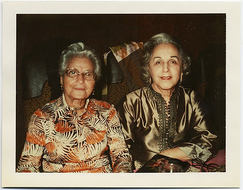 SILVER HAIRED WOMEN in FUNKY PATTERNS & ETHNIC TOPS POLAROID