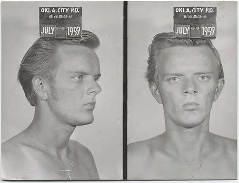 HAUNTING SCARY BLONDE SHIRTLESS CHISELED FELON MUGSHOT OKLAHOMA CITY TOUGH GUY