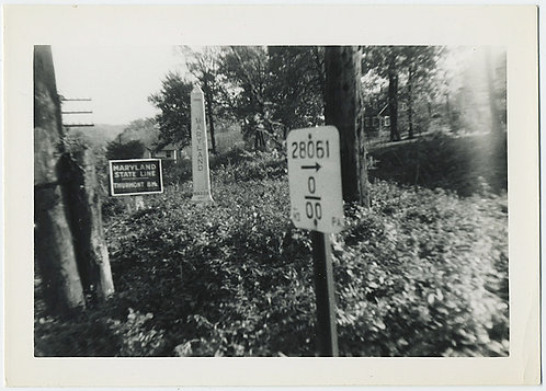 Welcome to MARYLAND STATE LINE! RARE! MILE MARKER +