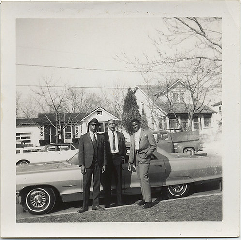 SHARP and DAPPER BLACK AFRICAN AMERICAN MEN POSE w CAR