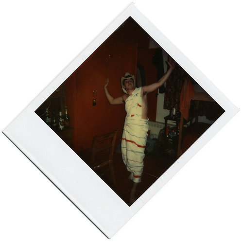 DUTCH ANGLE DIAMOND POLAROID HOT SHIRTLESS BOY SEXY TOGA COSTUME COWBOY HAT