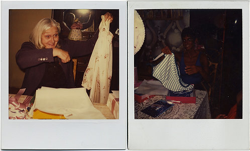 2 WOMEN DISCOVER CLOTHING! 2 POLAROIDS