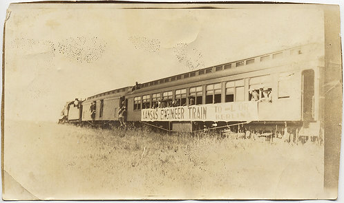 STRANGE UNUSUAL KANSAS ENGINEER TRAIN