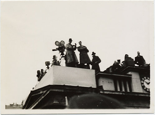 MOVIE PRESS CORPS FILMS CORONATION of GEORGE VI from ROOFTOP AWESOME