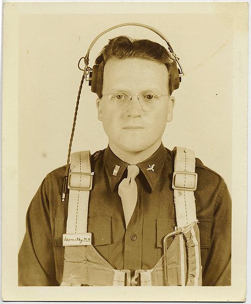 BABY-FACED AIR FORCE RADIO MAN ABERNATHY M M in STOIC PORTRAIT HEADPHONES ON