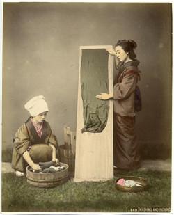 fp1373 (japanese women washing)