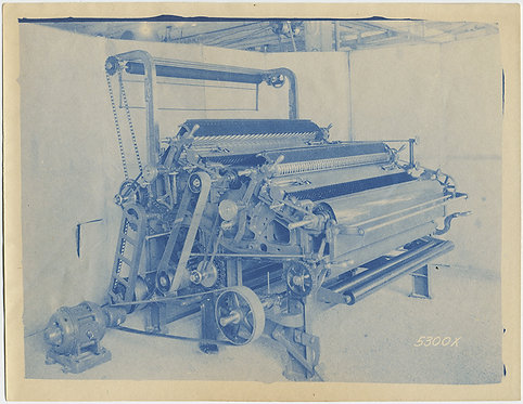 LOVELY INDUSTRIAL CYANOTYPE of COMPLEX MACHINE!