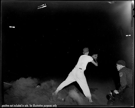 PRESS NEGATIVE SLIDING to HOME BASE in CLOUD OF DUST STUNNING BASEBALL ACTION