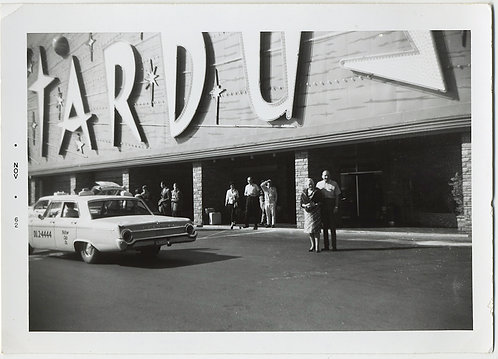 60s CAB DROPS OFF COUPLE at  STARDUST VEGAS HOTEL RESORT