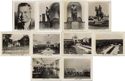 WILL ROGERS mini ARCHIVE 10 COMMERCIAL MEMORIAL PICS STATUE HOME GRAVE